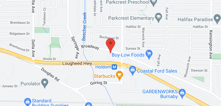 map of 5592 BROADWAY