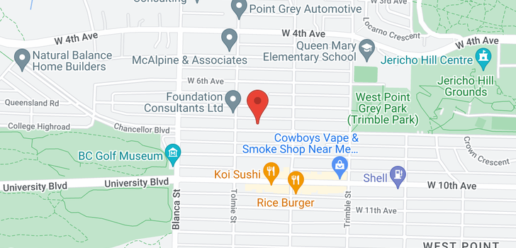 map of 4559 W 8TH AVENUE