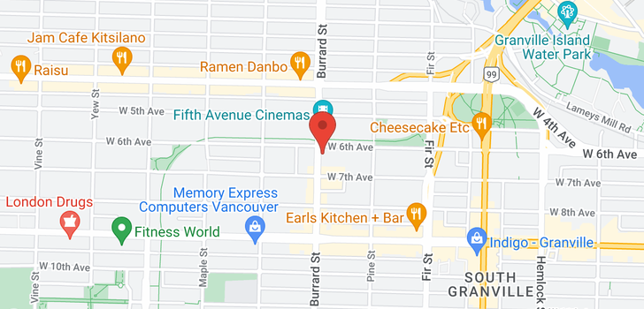 map of 127 1777 W 7TH AVENUE