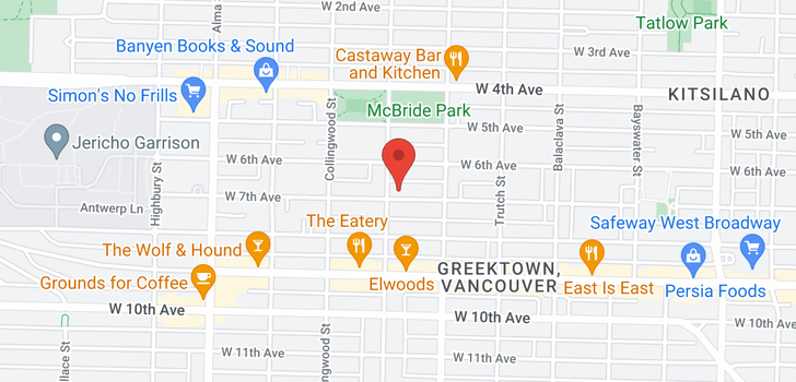 map of 3381 W 7TH AVENUE