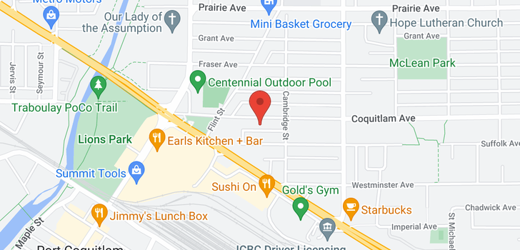 map of 303 2050 COQUITLAM AVENUE