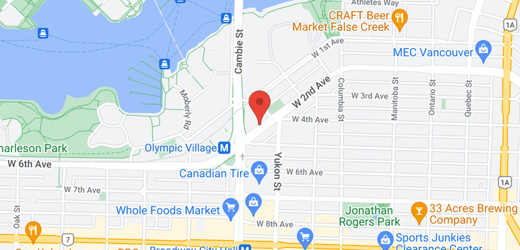 map of 404 445 W 2ND AVENUE