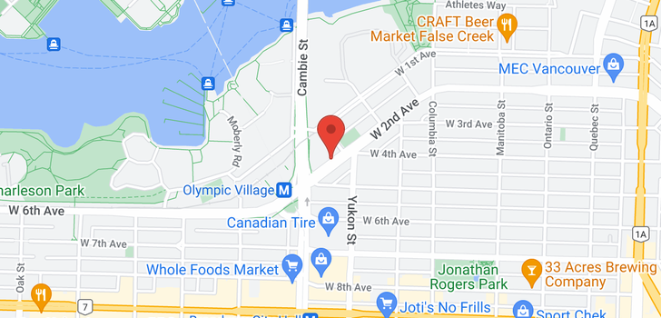 map of 1004 445 W 2ND AVENUE
