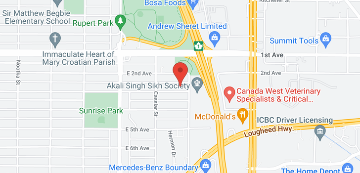 map of 3485 E 3RD AVENUE