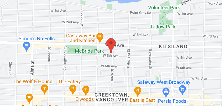 map of 3203 W 5TH AVENUE