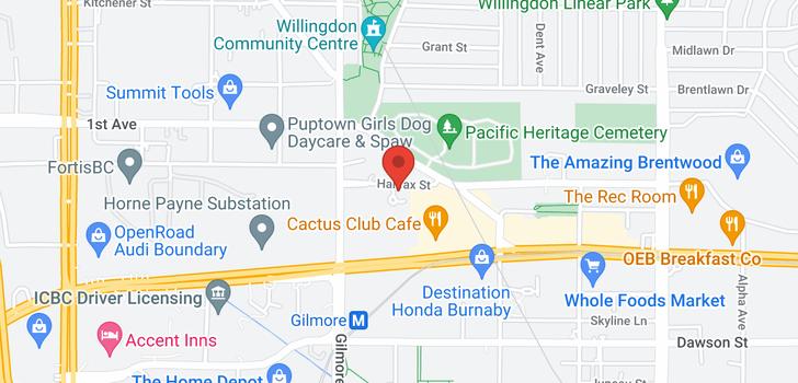 map of 901 4132 HALIFAX STREET