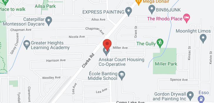 map of 113 932 ROBINSON STREET