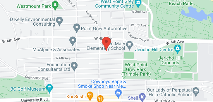 map of 4466 W 5TH AVENUE