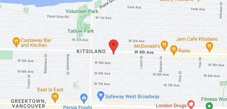 map of 313 2680 W 4TH AVENUE