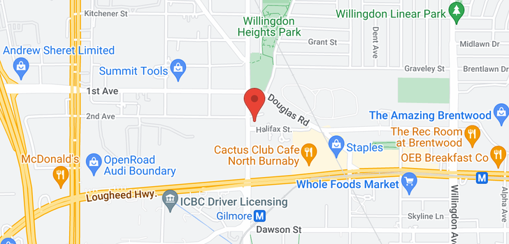 map of 3905 1788 GILMORE AVENUE