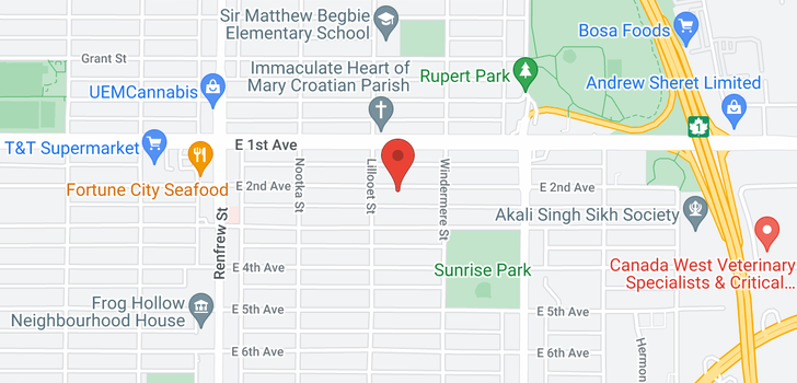 map of 3130 E 2ND AVENUE