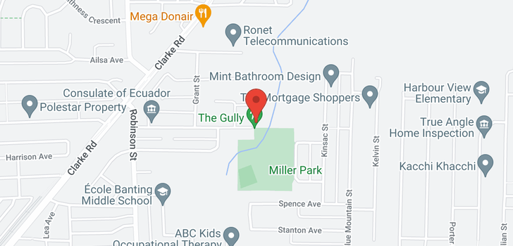 map of 835 837 MILLER AVENUE