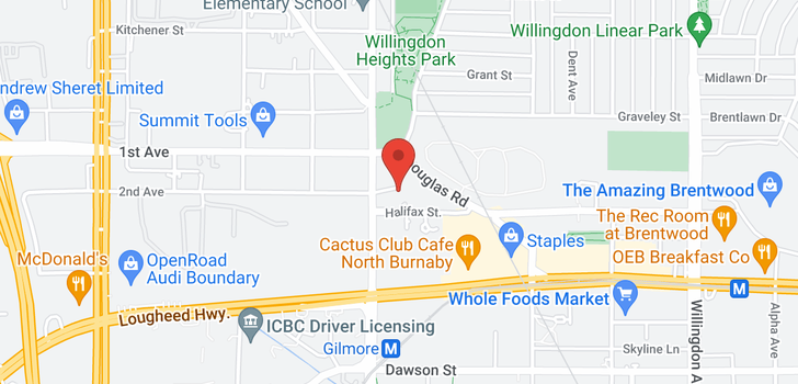 map of 317 1768 GILMORE AVENUE