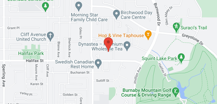 map of 205 1695 AUGUSTA AVENUE