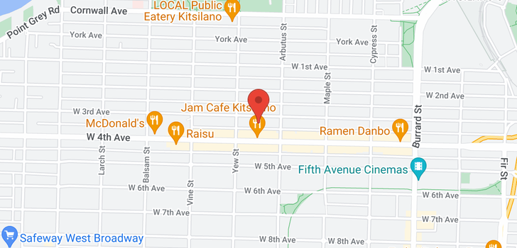 map of 2150 W 3RD AVENUE