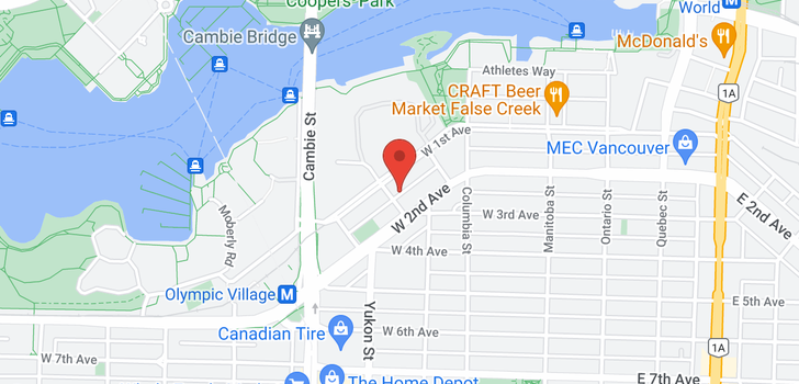 map of 1605 288 W 1ST AVENUE