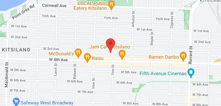 map of 404 2216 W 3RD AVENUE