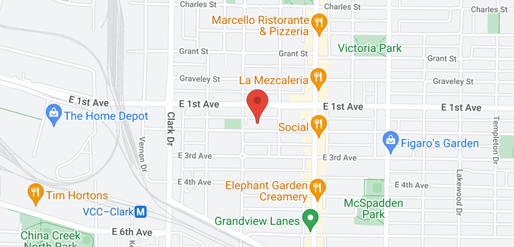 map of 114 1545 E 2ND AVENUE