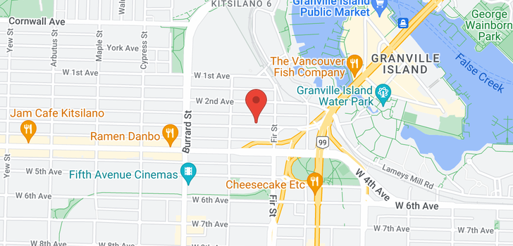 map of 214 1635 W 3RD AVENUE