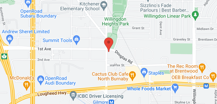 map of 3010 1788 GILMORE AVENUE