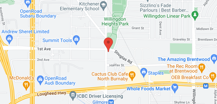 map of 4005 1788 GILMORE AVENUE