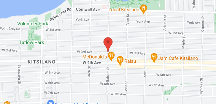 map of 2522 W 3RD AVENUE