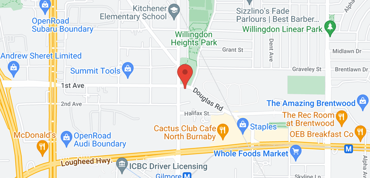 map of 1405 1788 GILMORE AVENUE
