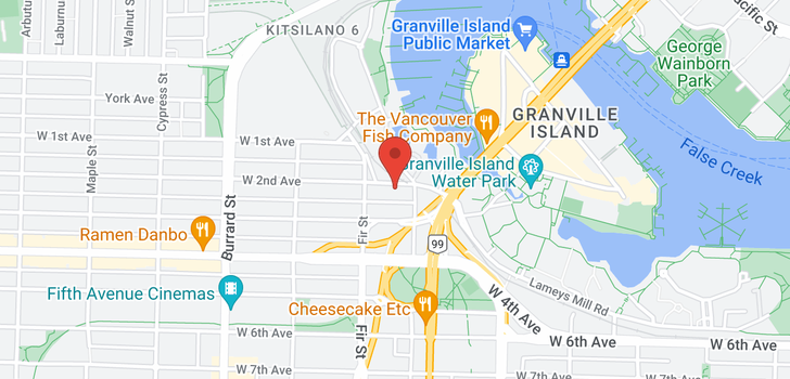 map of PH 610 1540 W 2ND AVENUE