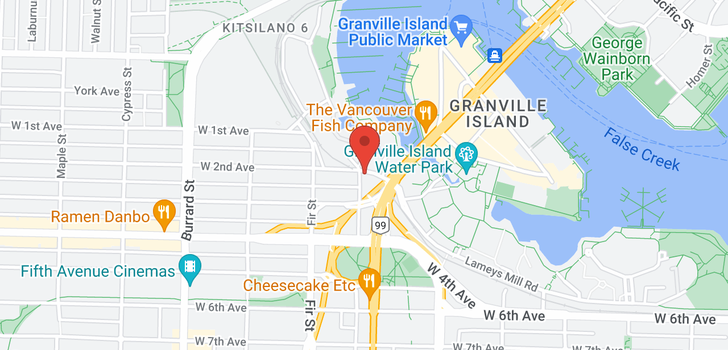 map of 209 1515 W 2ND AVENUE