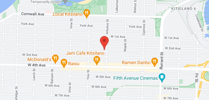 map of 504 2120 W 2ND AVENUE