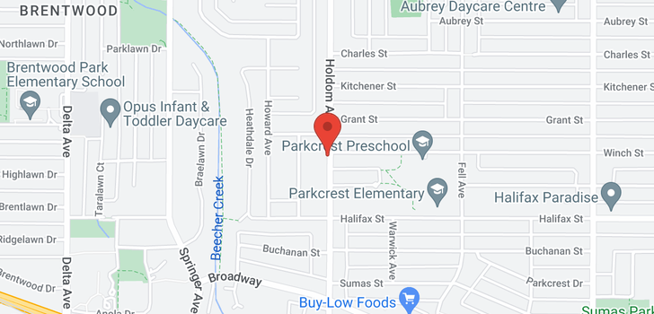 map of 1601 HOLDOM AVENUE