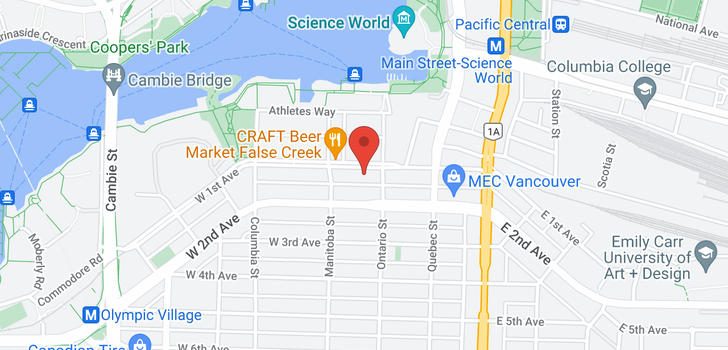 map of 607 38 W 1ST AVENUE