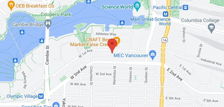 map of 909 108 W 1ST AVENUE