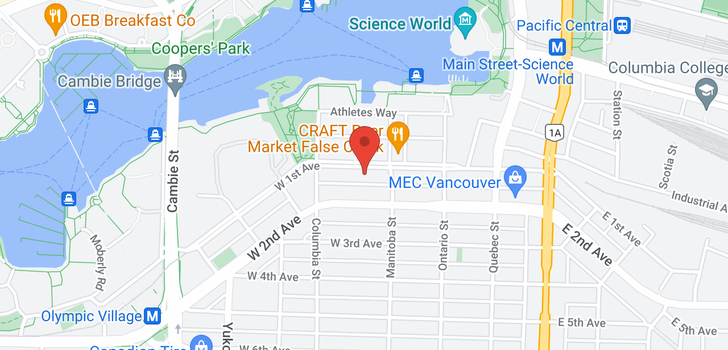 map of 1401 138 W 1ST AVENUE
