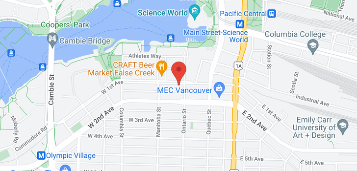 map of 321 38 W 1ST AVENUE