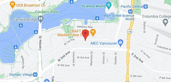 map of 1109 138 W 1ST AVENUE