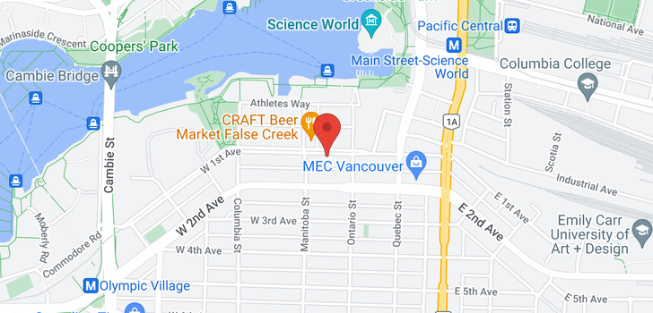 map of 74 W 1ST AVENUE