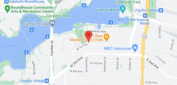 map of 1005 181 W 1ST AVENUE