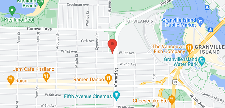 map of 501 1808 W 1ST AVENUE