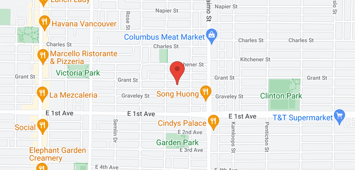 map of 2252 GRANT STREET