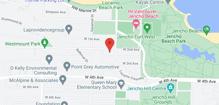 map of 4422 W 2ND AVENUE