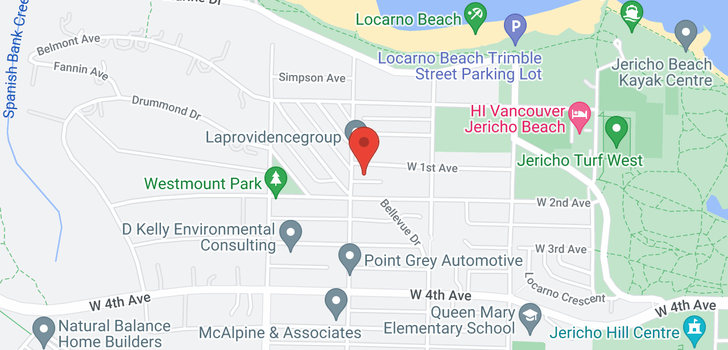 map of 4588 W 1ST AVENUE