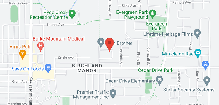 map of 1153 BLUE HERON CRESCENT