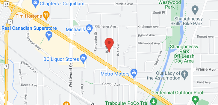 map of 3376 RALEIGH STREET