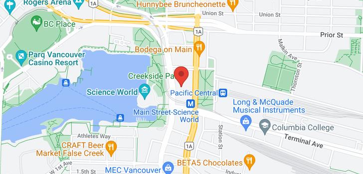 map of 301 1188 QUEBEC STREET