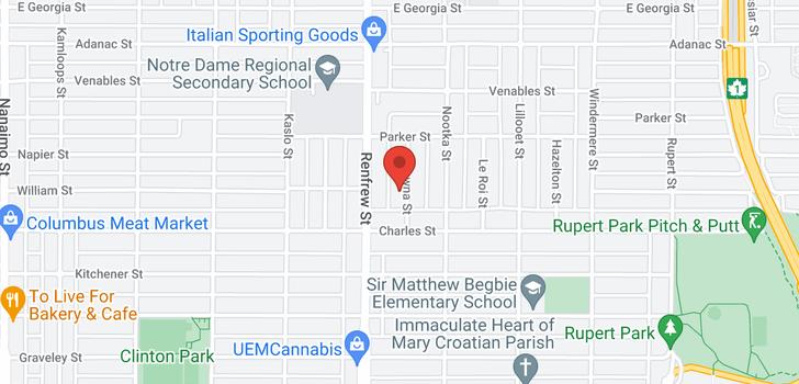 map of 1181 KELOWNA STREET