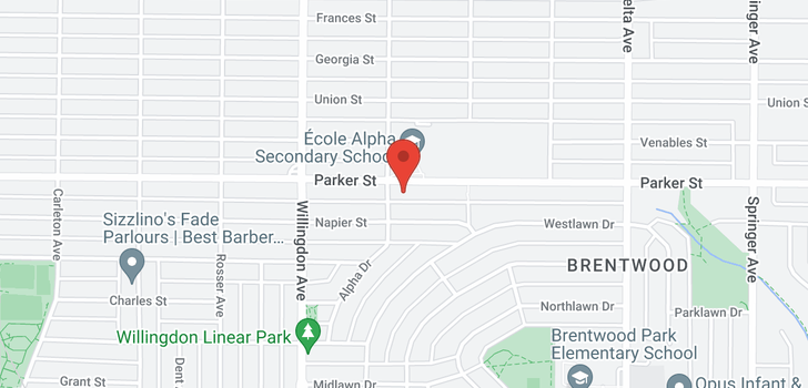 map of 4608 PARKER STREET