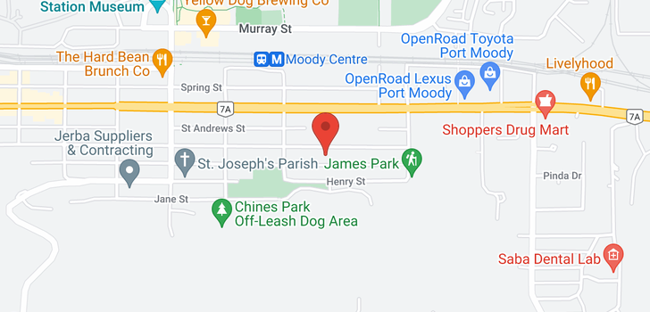 map of 104 3021 ST GEORGE STREET