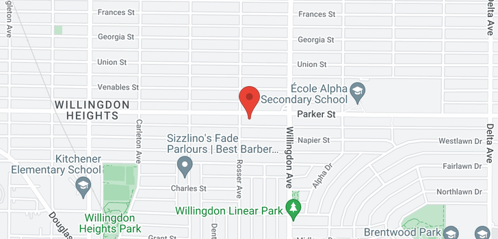 map of 4414 PARKER STREET