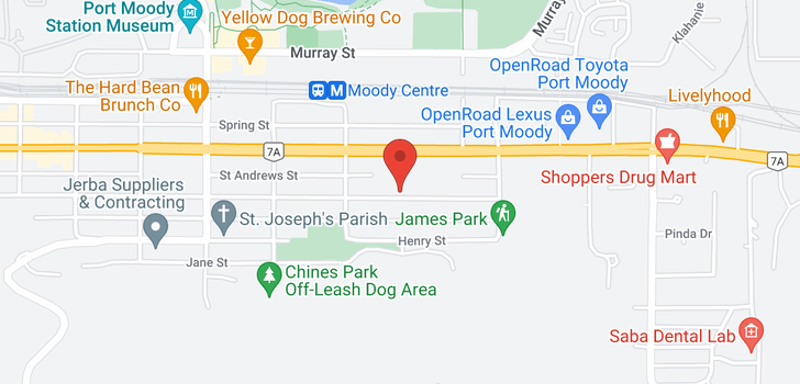 map of 607 3038 ST GEORGE STREET
